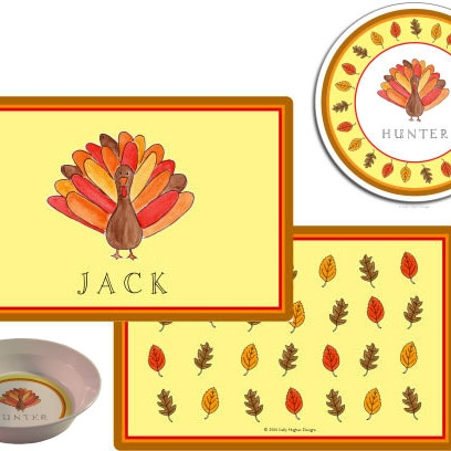 High Quality Thanksgiving Melamine Plate From Kelly Hughes Designs