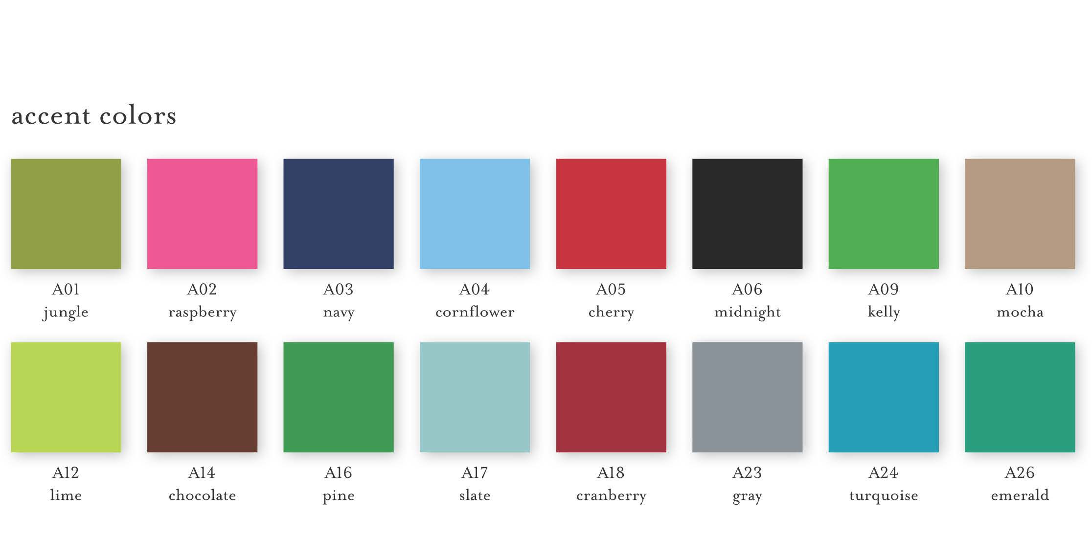 Holiday Accent colors