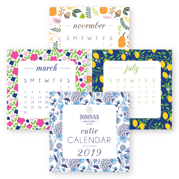 2019 Cutie Desk Calendars from Donovan Designs