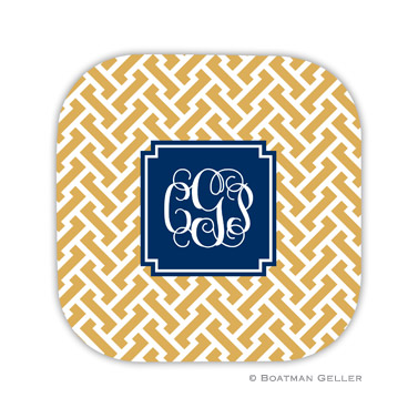 Boatman Geller Monogrammed Hard Back Coasters