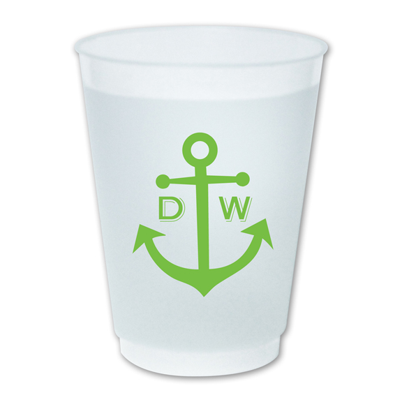 Dabney Lee Monogrammed Plastic Cups