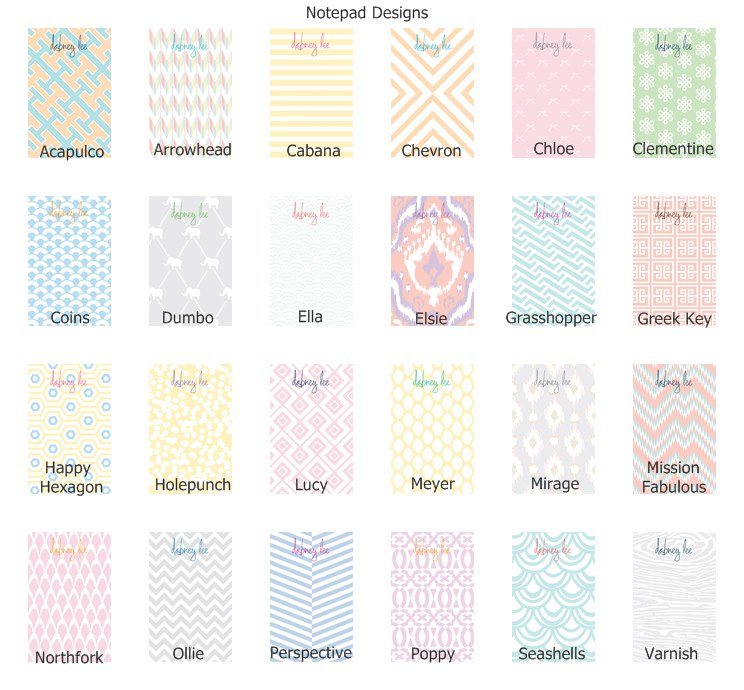 Dabney Lee Notepads & Notesheets in Acrylic