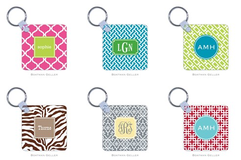 Boatman Geller Monogrammed Key Chains