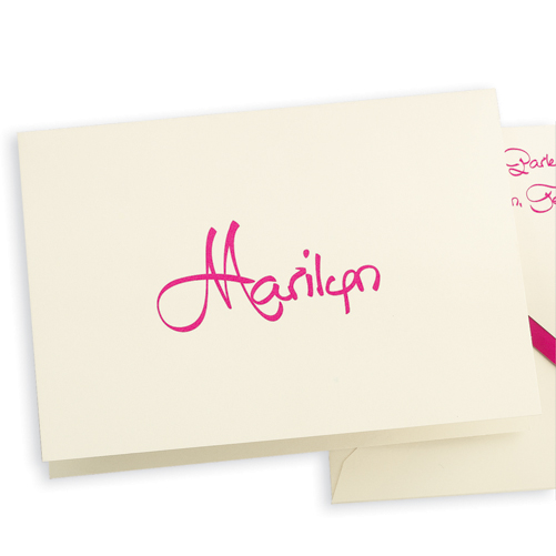 embossed graphic personalized anthony notecards
