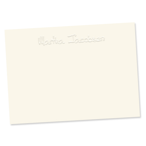 ce6313 paper sculpture card from embossed graphics - Personalized Embossed Note Cards