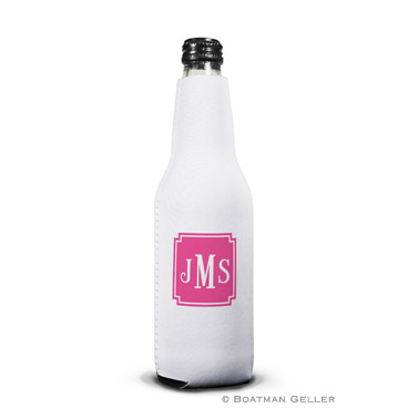 Monogrammed Personalized Boatman Geller Bottle Koozie