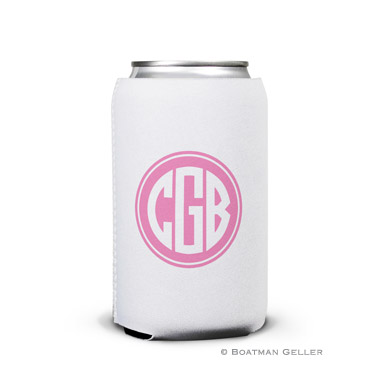 Monogrammed Personalized Boatman Geller Can Koozies