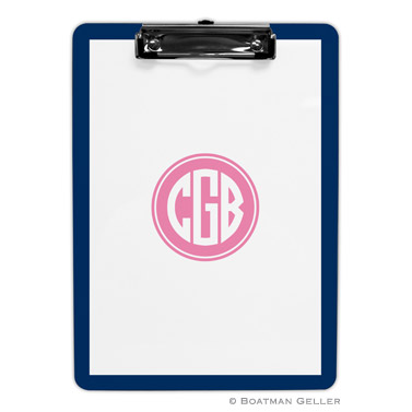 Monogrammed Personalized Boatman Geller Clipboard