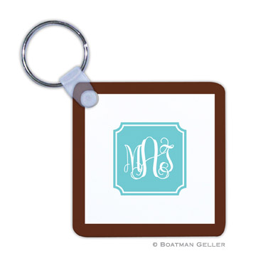 Monogrammed Personalized Boatman Geller Key Chains