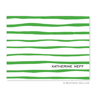 Brush Stripe Kelly Foldover Note from Boatman Geller