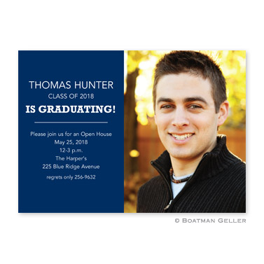 Graduating Block Photocard Announcement from Boatman Geller