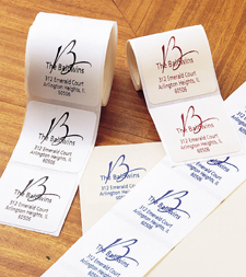 Script Initial Design Return Address Labels