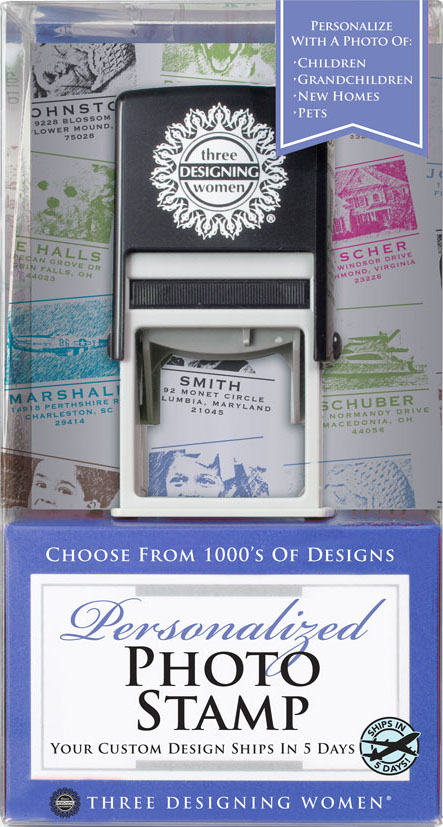 Personalized Photo Stamp Gift Set from Three Designing Women