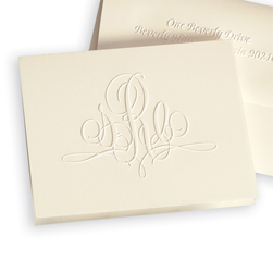 Paris Delavan Monogram Note from Embossed Graphics