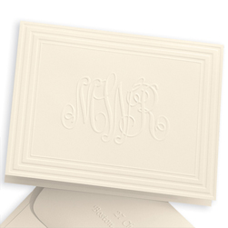 Classic Frame Monogram Note from Embossed Graphics
