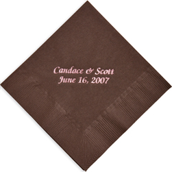 Wedding Foil Stamped Napkins from Embossed Graphics