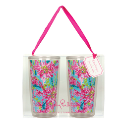 Lilly Pulitzer Insulated Tumbler Set - Trippin' and Sippin'