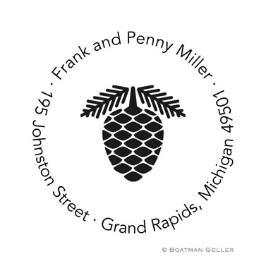 Custom Self Inking Pinecone Stamper from Boatman Geller