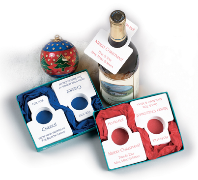 Holiday Bottle Gift Tags from The Chatsworth Collection