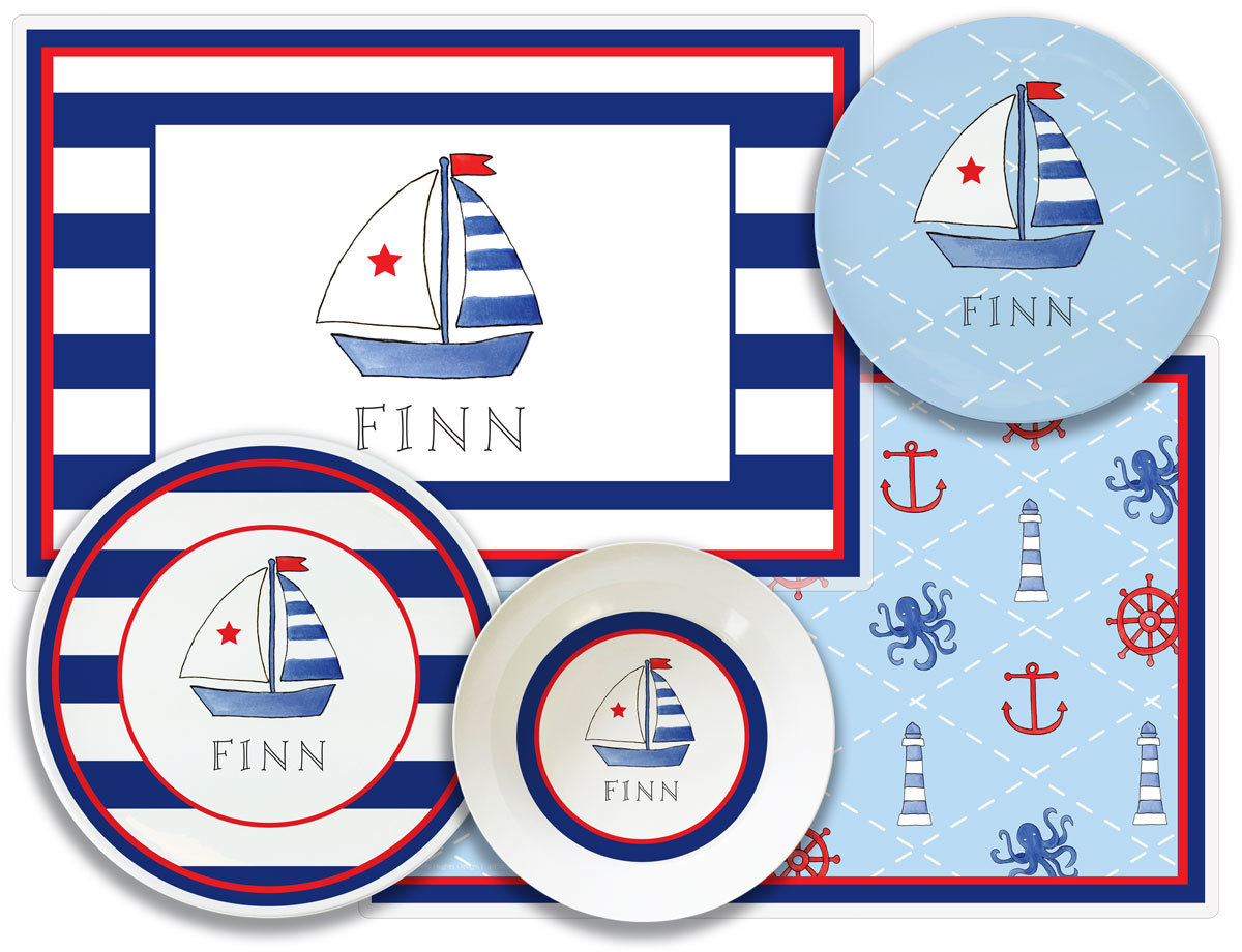 Set Sail Plate from Kelly Hughes Designs