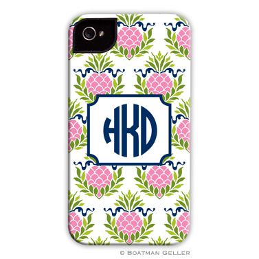 Pineapple Repeat Pink Personalized Boatman Geller Hard Cell Phone and Tech Cases