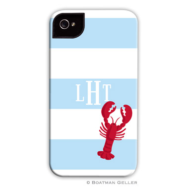 Stripe Lobster Personalized Boatman Geller Hard Cell Phone and Tech Cases