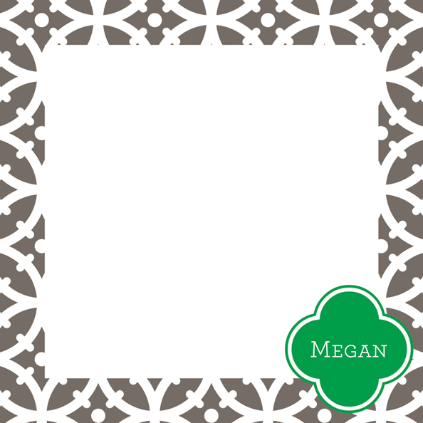 Trellis Square Note Sheets in Acrylic from Whitney English - more colors
