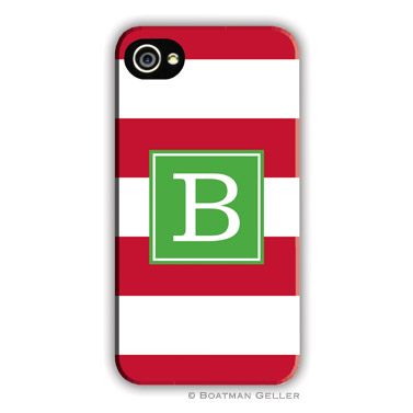 Awning Stripe Red Personalized Boatman Geller Hard Cell Phone and Tech Cases