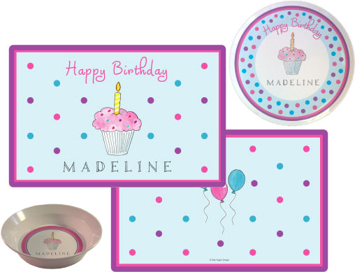 Birthday Cupcake Placemat from Kelly Hughes Designs