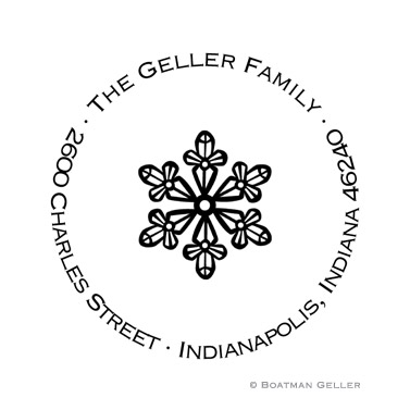 Custom Self Inking Snowflake Stamper from Boatman Geller
