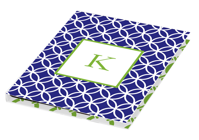 Navy Clover iPad Monogrammed Tablet Case from Kelly Hughes Designs