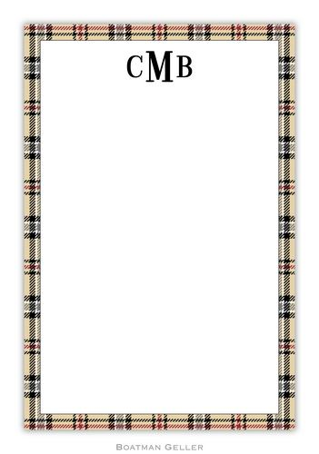 Town Plaid Personalized Notepads and Note Sheets from Boatman Geller