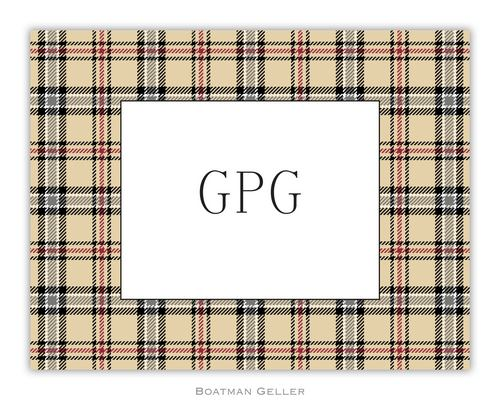 Town Plaid Foldover Note from Boatman Geller