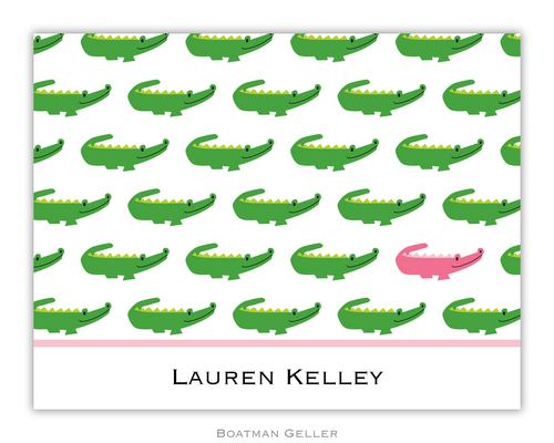 Alligator Repeat Foldover Note from Boatman Geller