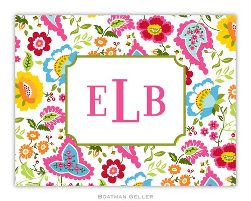Bright Floral Foldover Note from Boatman Geller