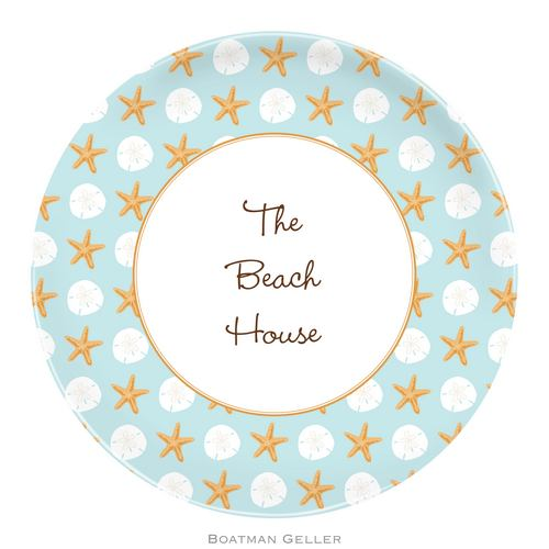 Personalized Melamine Seashore Plate from Boatman Geller