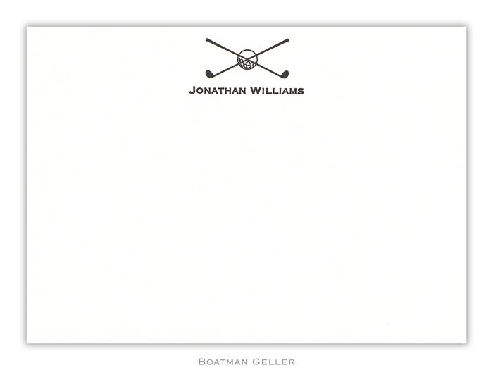Letterpress Icon Medium Flat Stationery from Boatman Geller