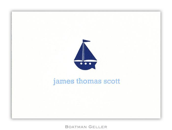 Petite Icon Letterpress Folded Note from Boatman Geller