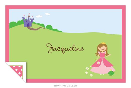 Personalized Princess Placemat from Boatman Geller