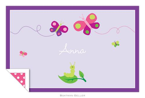Personalized Butterfly Placemat from Boatman Geller