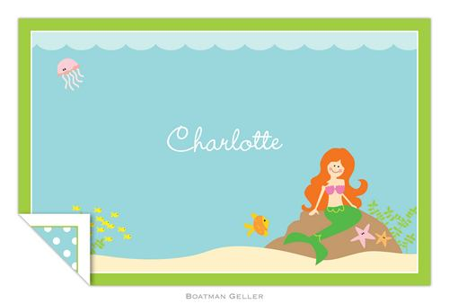 Personalized Mermaid Placemat from Boatman Geller