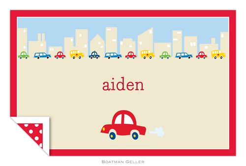 Personalized Cars Placemat from Boatman Geller