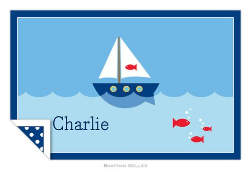 Personalized Sailboat Placemat from Boatman Geller