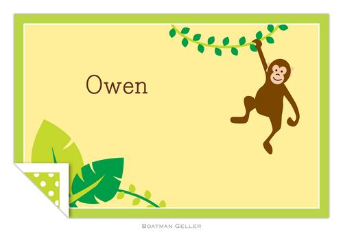 Personalized Monkey Placemat from Boatman Geller