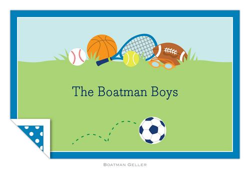 Personalized Sports Boy Placemat from Boatman Geller