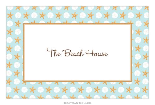 Personalized Seashore Placemat from Boatman Geller