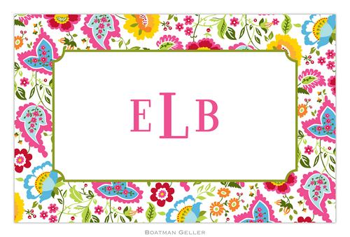 Personalized Bright Floral Placemat from Boatman Geller