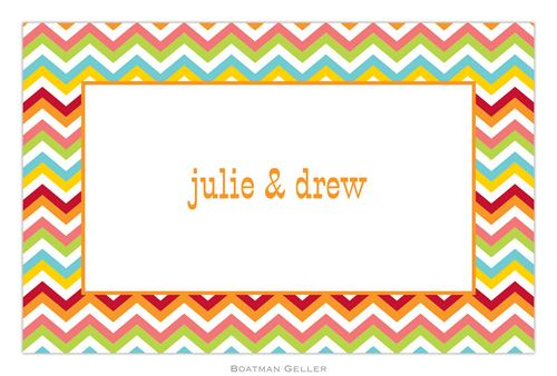 Personalized Chevron Bright Placemat from Boatman Geller