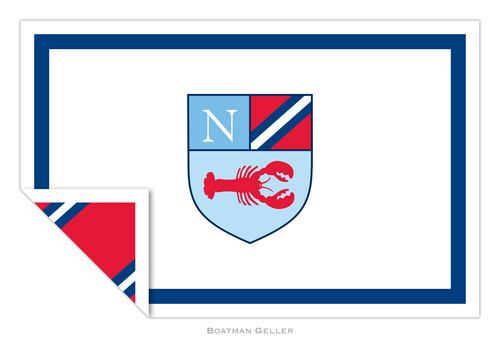 Personalized Crest Lobster Placemat from Boatman Geller