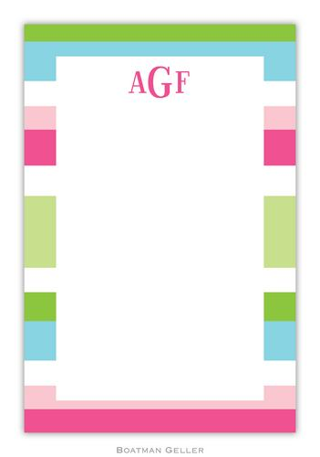 Espadrille Preppy Personalized Notepads and Note Sheets from Boatman Geller